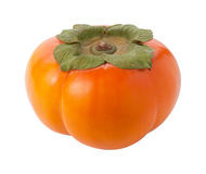 Persimmon Isolated with clipping path Royalty Free Stock Images