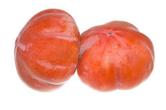 Persimmon Isolated on the White Stock Photos
