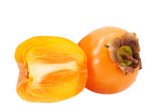 Persimmon isolated on white background Royalty Free Stock Images
