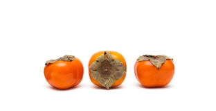 Persimmon isolated on white background close-up Royalty Free Stock Photos