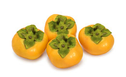 Persimmon isolated on white Stock Photos