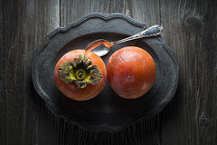 Persimmon - kaki Royalty Free Stock Photo
