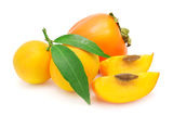 Persimmon and mandarin Royalty Free Stock Photo