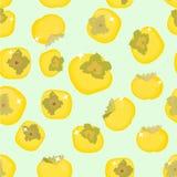 Persimmon owoc wektor Obraz Royalty Free
