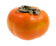 Persimmon Ripe Front View Stock Image