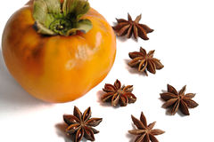 Persimmon and Star Anise Stock Image