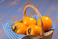 Persimmon still life Royalty Free Stock Images