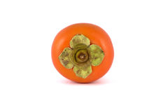 Persimmon. Top view of persimmon on isolated white background royalty free stock image