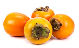 Persimmon on a white background Royalty Free Stock Photography