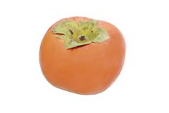 Persimmon on white background Royalty Free Stock Image