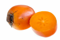 Persimmon on a white background Royalty Free Stock Photos