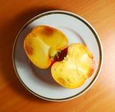 persimmonplatta Royaltyfria Bilder