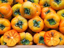 Persimmons, Athens Markets, Greece Royalty Free Stock Photo