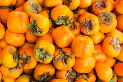Persimmons fruit background. Royalty Free Stock Photo