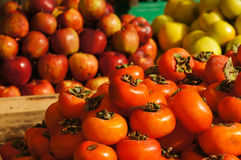 Persimmons fruit at the  market in Pakistan Royalty Free Stock Images
