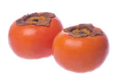 Persimmons Isolated Stock Photo