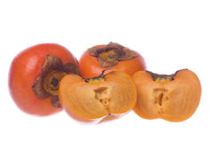 Persimmons Isolated Stock Photos