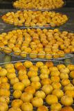 Persimmons under sunlight Royalty Free Stock Images