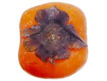 Persimonefrucht mit Beschneidungspfad auf Weiß Stockbild