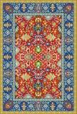 Persischer ausführlicher vektorteppich Lizenzfreie Stockbilder