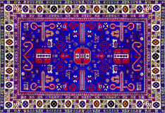 Persischer Teppich-Beschaffenheit, abstrakte Verzierung Rundes Mandalamuster, östliche traditionelle Teppichoberfläche Grünes rot stockbilder