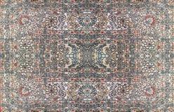 Persischer Teppich-Beschaffenheit, abstrakte Verzierung Rundes Mandalamuster, nahöstliche traditionelle Teppich-Gewebe-Beschaffen stockbild