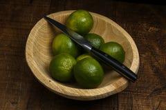 Persisk limefrukt, också bekant Tahiti limefrukt royaltyfri fotografi