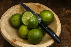 Persisk limefrukt, också bekant Tahiti limefrukt royaltyfria foton