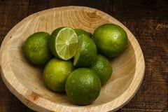 Persisk limefrukt, också bekant Tahiti limefrukt royaltyfria bilder