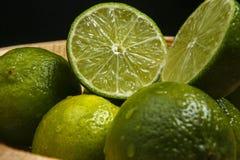 Persisk limefrukt, också bekant Tahiti limefrukt arkivfoton