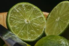 Persisk limefrukt, också bekant Tahiti limefrukt arkivbilder