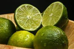 Persisk limefrukt, också bekant Tahiti limefrukt arkivfoto