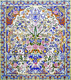 Persisk mosaik arkivbild