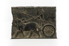 Persisk soldat, Bas lättnad Persepolis Arkivfoto