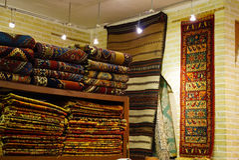 Persiska mattor i Isfahan, Iran Arkivbild