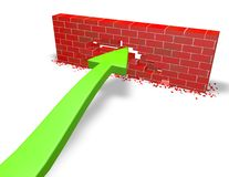 Persistence, challenge abstract concept with wall Royalty Free Stock Image