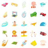 Persistence icons set, cartoon style. Persistence icons set. Cartoon set of 25 persistence icons for web isolated on white background Stock Photography
