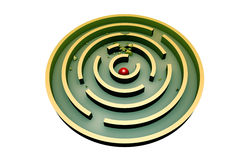 Persistentie (rond labyrint) Stock Afbeelding