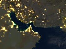 Perska zatoka przy nocą na planety ziemi Obrazy Stock