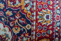 Perski Klasyczny dywan Wyplatający szczegół obrazy royalty free