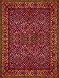 Perskiego dywanu tekstura, abstrakcjonistyczny ornament Round mandala wzór, Bliskowschodnia Tradycyjna Dywanowa tkaniny tekstura  Zdjęcia Stock