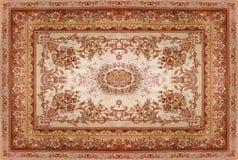Perskiego dywanu tekstura, abstrakcjonistyczny ornament Round mandala wzór, Bliskowschodnia Tradycyjna Dywanowa tkaniny tekstura  Obrazy Stock