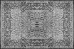 Perskiego dywanu tekstura, abstrakcjonistyczny ornament Round mandala wzór, Bliskowschodnia Tradycyjna Dywanowa tkaniny tekstura  Obrazy Royalty Free