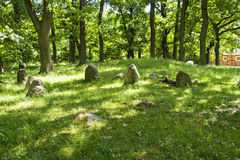 Perslund iron age graves Royalty Free Stock Images