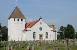Persnas老和美丽如画的教会  库存照片