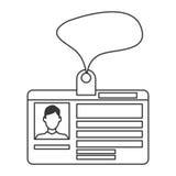 persönliche Ausweiskarteikone Lizenzfreie Stockfotografie