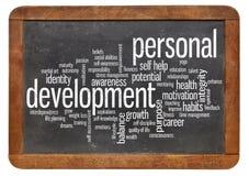 Persönliche Entwicklungswortwolke Lizenzfreie Stockfotos