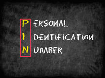 Persönliche Identifikationsnummer (PIN) Stockfoto