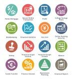Persönliche u. Geschäfts-Finanzikonen stellten 3 - Dot Series ein Stockfotos