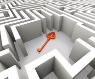Perso digiti Maze Shows Security Solution illustrazione vettoriale